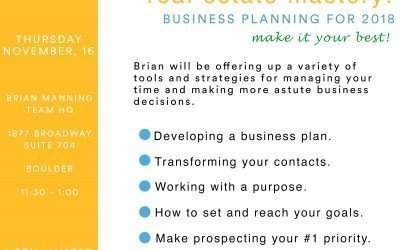 Business Planning For 2018: Make it Your Best Year Yet!